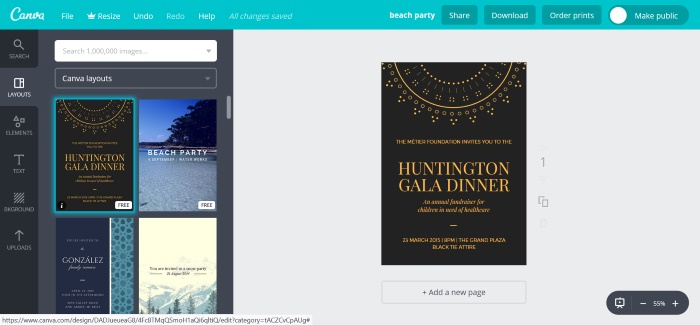 Image of the Canva Editor