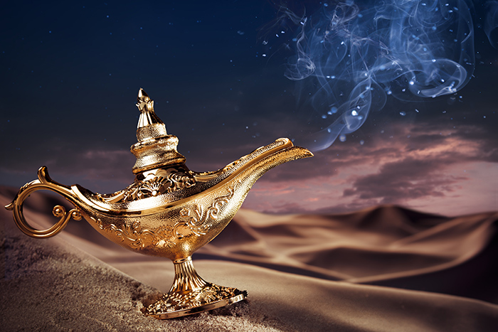 A genie's lamp