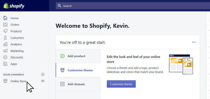 Shopify Select Online Store